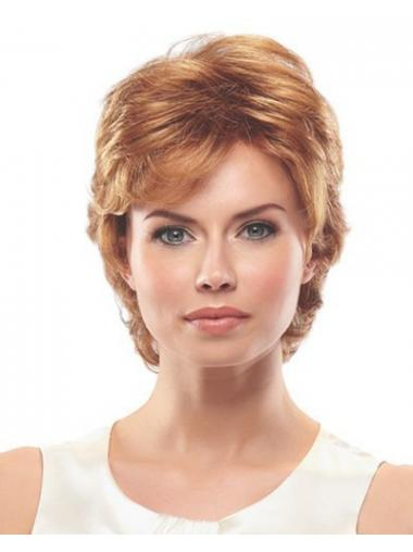 Wavy Layered Short Exquisite Auburn Synthetic Wigs
