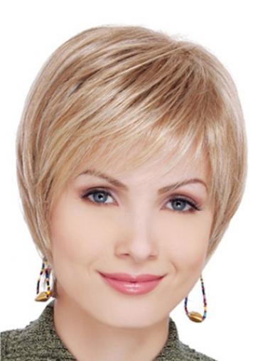 Best Blonde Short Straight Layered Lace Front Wigs