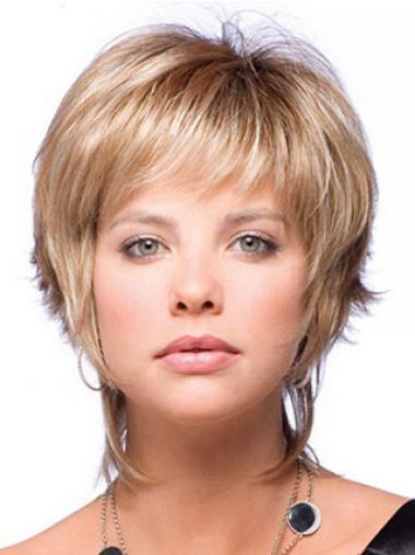 Boycuts Straight Blonde Capless Beautiful Short Wigs