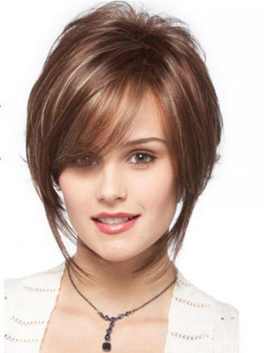 Bobs Wavy Brown Capless Designed Short Wigs