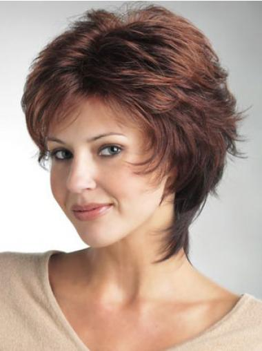 Lace Front Wig UK Short Length Straight Style Auburn Color