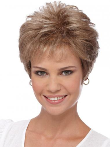 Short Wigs For Women With Capless Boycuts Cropped Length Wavy Style