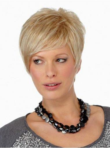 Boycuts Straight Blonde Capless Online Short Wigs