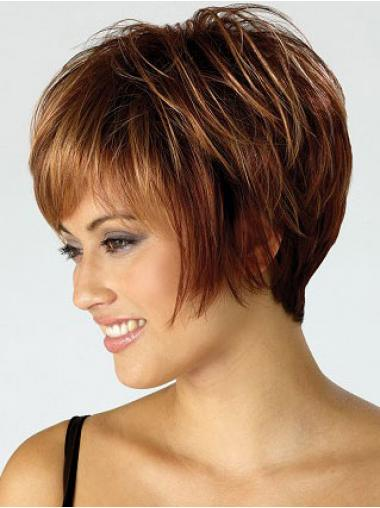 Bobs Straight Auburn Capless Best Short Wigs