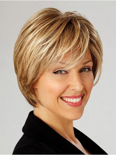 Short Straight Capless Blonde High Quality Bob Wigs