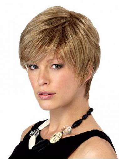 Boycuts Straight Blonde Capless Stylish Short Wigs
