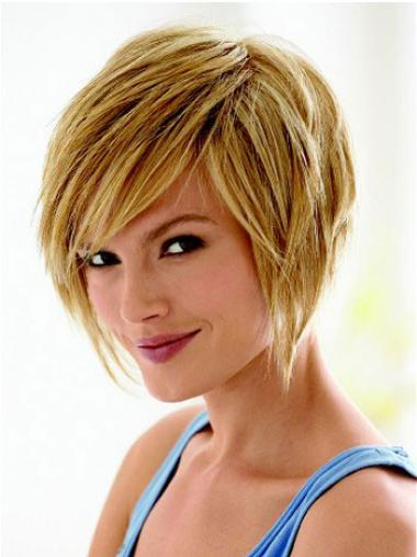 Short Hair Styles Bob With Capless Synthetic Straight Style Bobs
