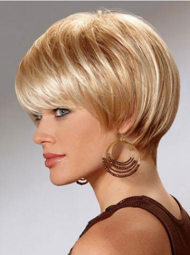 Short Bob Wigs For Women With Capless Straight Style Short Length