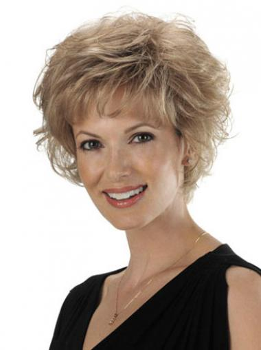 Top Blonde Short Wavy Classic Lace Front Wigs