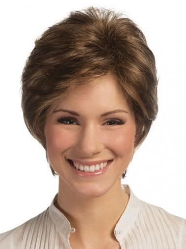 Lace Front Monofilament Human Hair Wigs Short Length Straight Style Boycuts