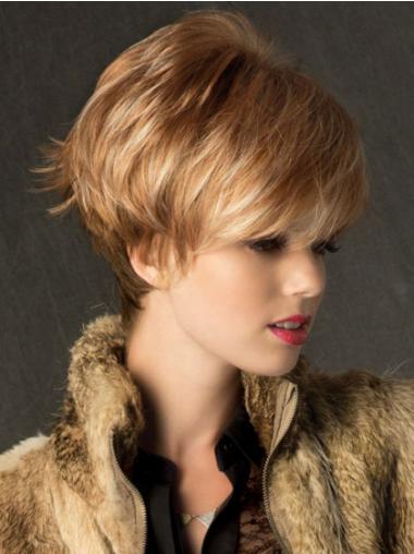Boycuts Straight Blonde Capless No-Fuss Short Wigs