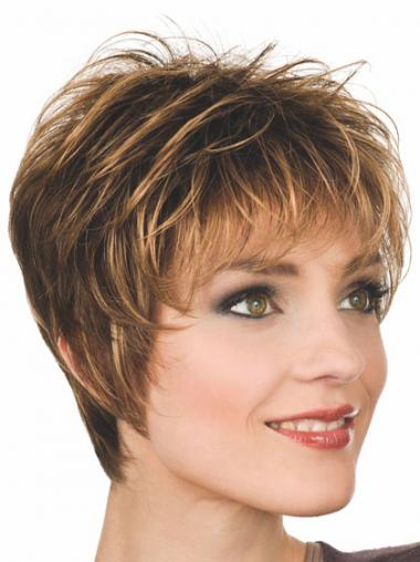 Boycuts Straight Auburn Capless Gorgeous Short Wigs