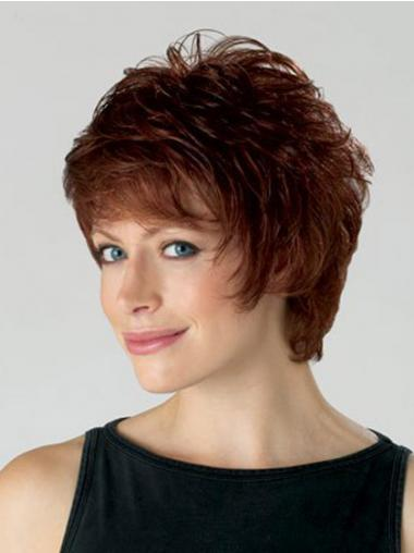 Wavy Layered Short Convenient Auburn Synthetic Wigs