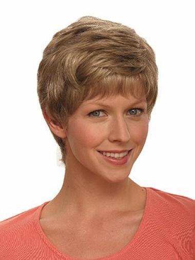 Boycuts Wavy Brown Capless Incredible Short Wigs