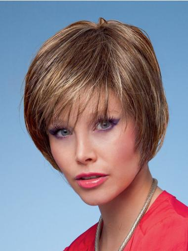 Bobs Straight Brown Capless Fashion Short Wigs