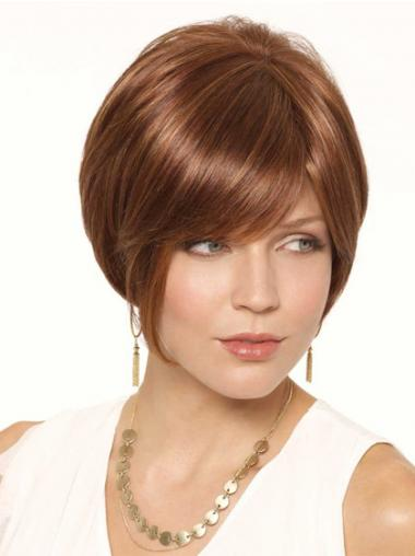 "Short Auburn Cheapest 6"" Straight Bob Wigs"
