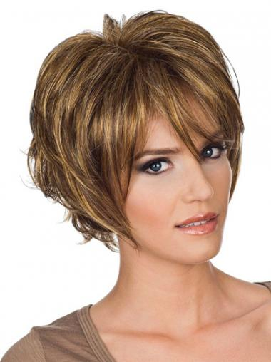 Layered Wavy Auburn Capless Amazing Short Wigs