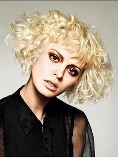 Layered Wavy Blonde Capless Beautiful Short Wigs