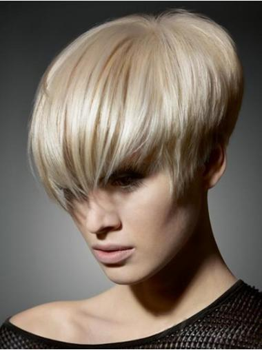 Boycuts Straight Blonde Capless Flexibility Short Wigs
