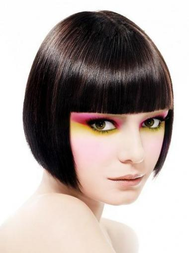Capless Short Straight Black Incredible Bob Wigs