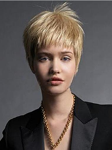 Boycuts Straight Blonde Capless Fabulous Short Wigs