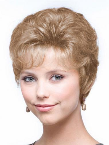 Wavy Blonde Ideal Cropped Classic Lady Wig