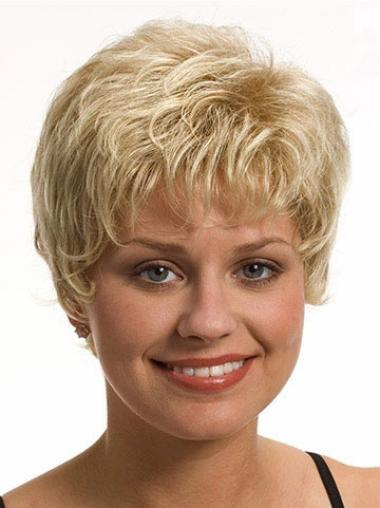 Boycuts Wavy Blonde Capless Best Short Wigs
