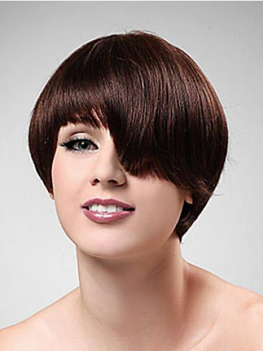 Boycuts Straight Auburn Capless Comfortable Short Wigs