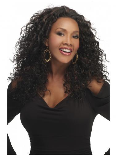 Kinky Brazilian Remy Hair Brown Long High Quality 3/4 Wigs