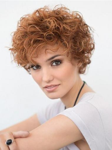 "Short Curly Blonde 6"" Lace Wig"