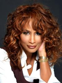 "Auburn Long Wavy With Bangs Lace Front 16"" Beverly Johnson Wigs"