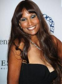 "Brown Long Wavy With Bangs Lace Front 24"" Beverly Johnson Wigs"