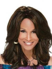 """Black Shoulder Length Wavy Layered Full Lace 14"""" Beverly Johnson Wigs"""