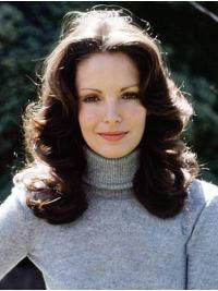 """Shoulder Length Full Lace 14"""" Brown Fashionable Remy Human Hair Jaclyn Smith Wigs"""