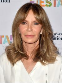 """Shoulder Length Lace Front 14"""" Blonde Ladies Synthetic Jaclyn Smith Wigs"""