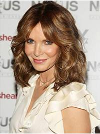 "Shoulder Length Lace Front 14"" Brown Discount Synthetic Jaclyn Smith Wigs"