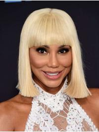 "Straight Grey Chin Length 12"" Synthetic Popular Toni Braxton Wigs"