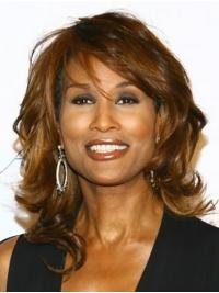 """Wavy Brown Shoulder Length 14"""" Synthetic Trendy Beverly Johnson Wigs"""