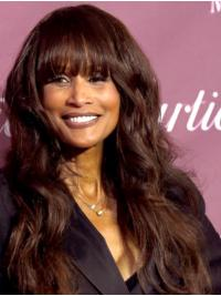 """Wavy Brown Long 22"""" Synthetic Great Beverly Johnson Wigs"""