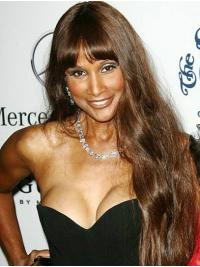 "Straight Blonde Long 26"" Synthetic Affordable Beverly Johnson Wigs"