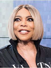 """Straight Grey Chin Length 10"""" Synthetic Exquisite Wendy Williams Wigs"""