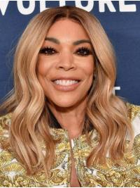 """Wavy Blonde Long 16"""" Synthetic Good Wendy Williams Wigs"""