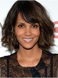 Soft Chin Length Lace Front Synthetic Bobs Halle Berry Wigs