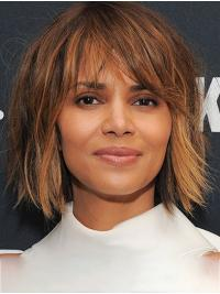 Incredible Shoulder Length Lace Front Synthetic Bobs Halle Berry Wigs
