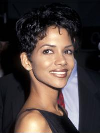 Popular Cropped Lace Front Remy Human Hair Boycuts Halle Berry Wigs