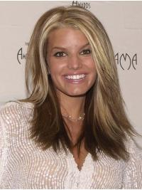 """Long Soft Straight Lace Front 16"""" Synthetic Jessica Simpson Wigs"""