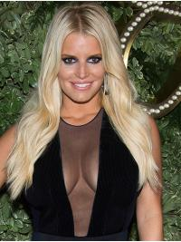 "Long Exquisite Wavy Lace Front 22"" Synthetic Jessica Simpson Wigs"