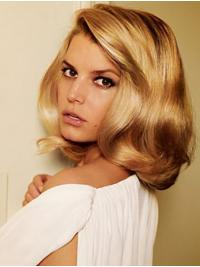 "Shoulder Length Stylish Wavy Lace Front 14"" Synthetic Jessica Simpson Wigs"
