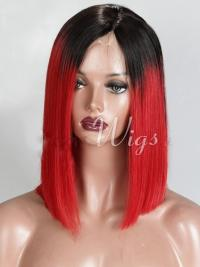 Chin Length Ombre/2 Tone Straight Bobs Discount African American Wigs
