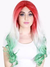 """22"""" Ombre/2 Tone Long Without Bangs Wavy Perfect Lace Wigs"""